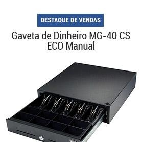 Gaveta de dinheiro MG 40 CS ECO manual