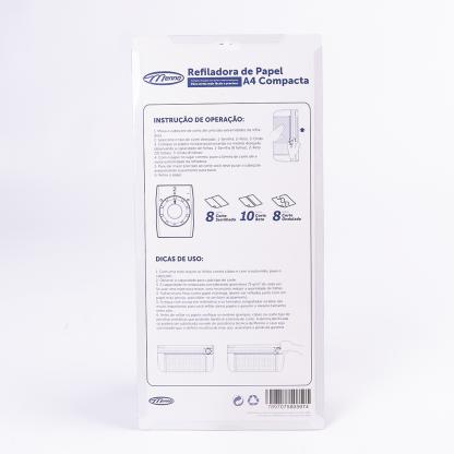 Refiladora de Papel A4 compacta 3 em 1